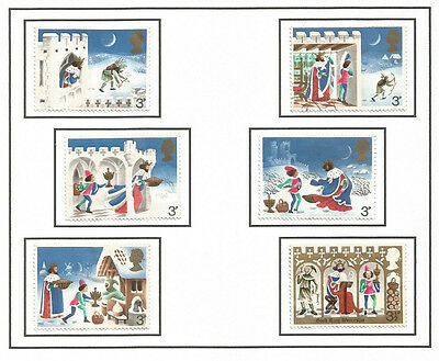 GB 1973 Christmas Set of Used Stamps SG Nos. 943-8