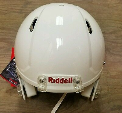 Adult large White Riddell Speed Football Helmet With Faceguard