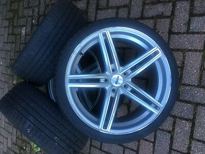 """19"""" Alloy Wheels With Concave ***mercedes**5 X 112** Off Set 42 ** Damaged**"""