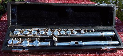 J Michael Silver Plated Flute In Hard Case.