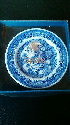 Spode miniature Georgian Series Blue Room Collection Willow plate