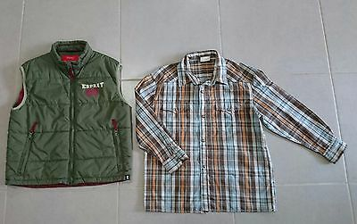 Boys ESPRIT Puffer Vest Size 10 and CONTACT Shirt Size 8