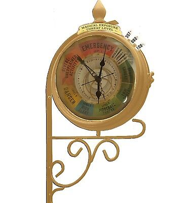 fantastic beasts magical exposure threat level dual sided clock harry potter