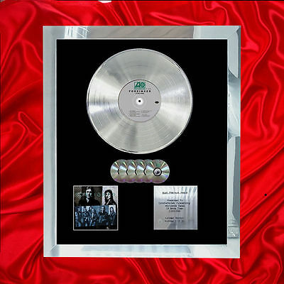 Foreigner Double Vision Multi (Gold) Cd Platinum Disc Free Shipping To U.k.