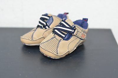 Baby Boys Brown Mix Pram Shoes UK Size 0-6 Months from Mothercare
