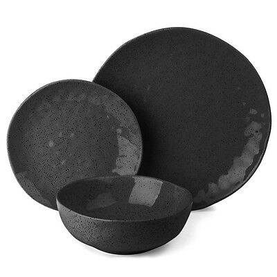 NEW Ecology Speckle Ebony Dinner Set 12pce