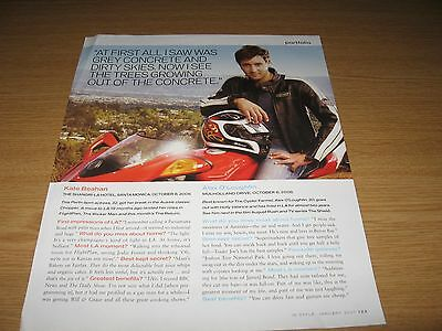 ALEX O'LOUGHLIN - 1 page magazine clipping