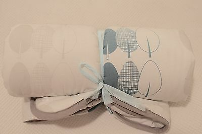 NEW Olli & Lime Leander cot quilt, forest blue