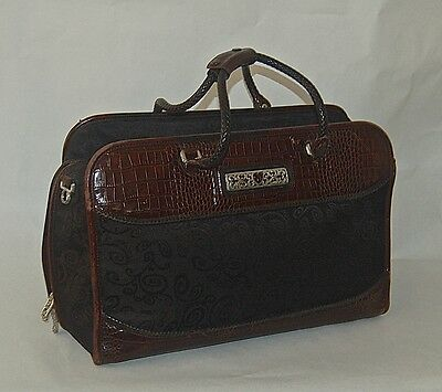 Brighton Croc Embossed Leather Weekender Bag Carry-On