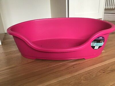 BNWT Large Pink Dog Bed New