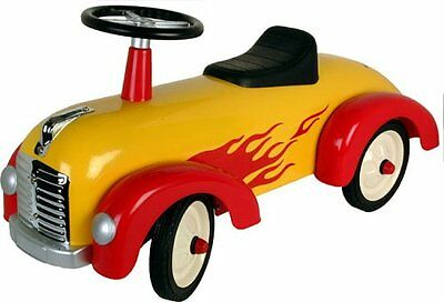"""Great Gizmos 30""""L x 14""""H Yellow & Red Speedster Ride On Sports Car 21547"""