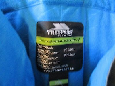 trespass nwts Detachable Braces Waterproof Windproof Trousers 2xl