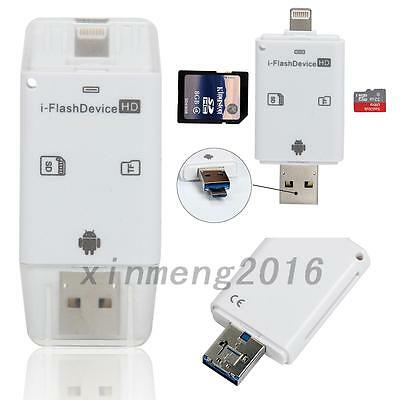 USB i-Flash Drive Micro SD/TF Memory Card Reader Adapter For iPhone Android Hot