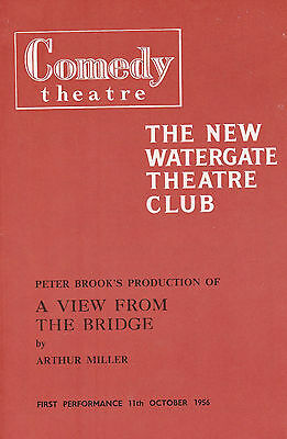1956  PROG A VIEW FROM THE BRIDGE - RICHARD HARRIS ANTHONY QUAYLE MARY URE etc.