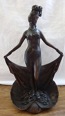 Cast Patinated Bronze Oriental erotic nymph figure