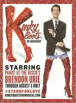 PRINT AD Kinky Boots theatre Brendon Urie Panic at the Disco ADVERTISING PAGE