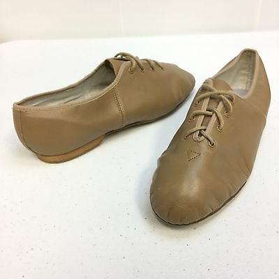 BLOCH Soft Leather Dance Stage Jazz Shoes Lace up Nude Tan Women's 10 Ballet 1U3
