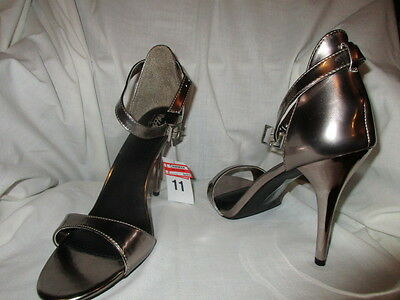 Mossimo Gold Open Toe Ankle Strap Heels, Size 11 - NWT