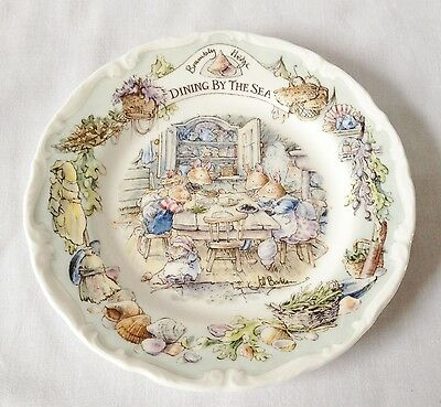 Brambly Hedge Dining By The Sea Plate - Royal Doulton - China 1st Quality BOXED