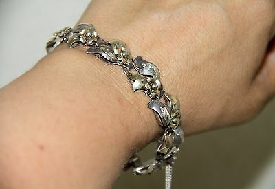 CATALAN BRACELET. SILVER WITH GOLD DETAILS. BARCELONA. EARLY 20th CENTURY