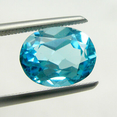 Natural Bright Swiss Blue Color Blue Topaz Oval Cut Loose Gemstone.
