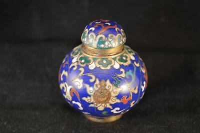 A Lovely Chinese Miniature Cloisonne Lidded Jar