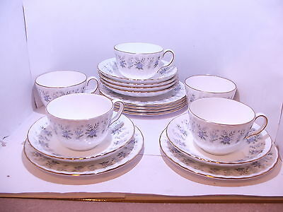 5 x Minton Alpine Spring trios cup saucer and plate 1st quality