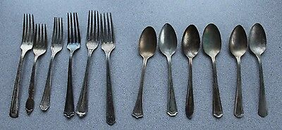 Lot of 12 Assorted Silverplated Flatware Vintage Markings