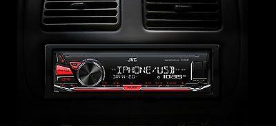 JVC KD-X241 Autoradio mit MP3 USB AUX iPod / iPhone Android Flac EQ12 Rot