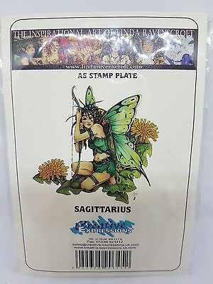 Creative Expressions 'sagittarius' Fairy A6 Rubber Stamp,  New