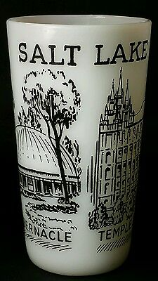 Vintage Federal Glass Salt Lake City Souvenir Tumbler