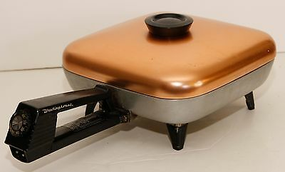 WESTINGHOUSE EFP551 USA Copper Lid Electric Fry Pan Skillet...WOW!!!