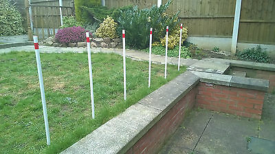 SALE x Set of 6 x Dog Agility Weave Poles by projump canine