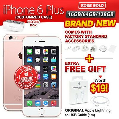 New & Sealed Factory Unlocked APPLE iPhone 6 + Plus 16 64 128GB Rose Gold