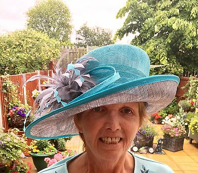 Mother Of The Bride Jacque Vert Turquoise Hat