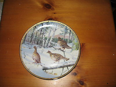 "Owen J. Gromme 8"" Collector Plate , Winter Search"