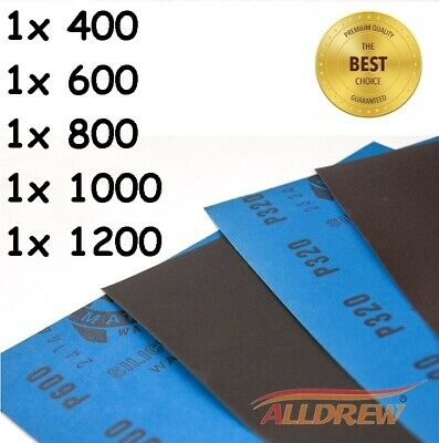 WET AND DRY SANDPAPER MATADOR Mixed - 3000 / 5000 / 7000 GRIT - PACK OF 3
