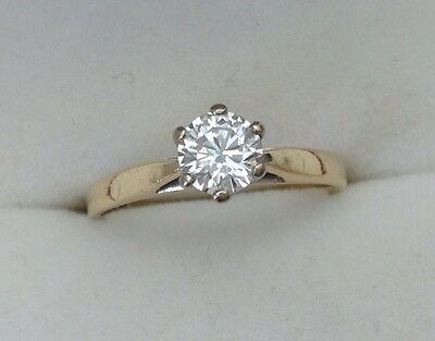 18ct Gold .50 1/2ct Diamond Solitaire Ring Size K 1/2