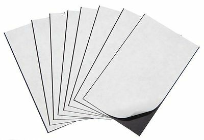 "25 Self Adhesive Flexible Magnetic Sheets Wallet size, USA 2"" x 3""- FREE ship"