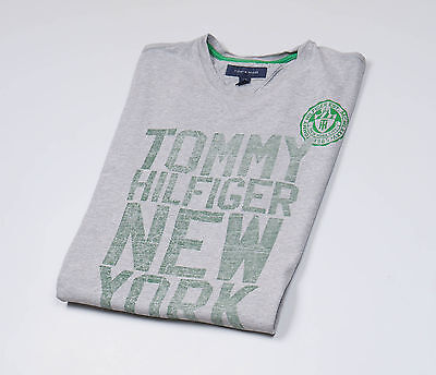 Tommy Hilfiger Grey Mens Top T-Shirt, short sleeved, crew neck Size Large