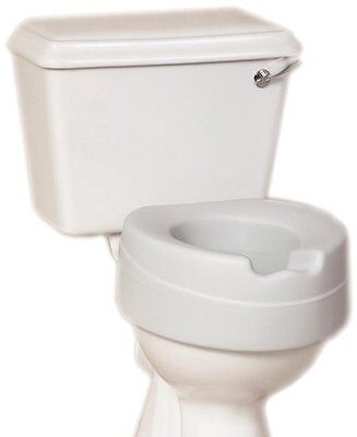 NRS Healthcare Comfort Foam Filled Raised Toilet Seat – 4½ inches High Eligible