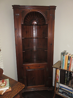 Pine Corner Cabinet Shell Carved Pick Up New Jersey Very Nice!