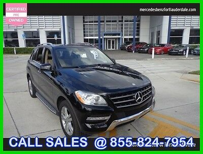 2015 Mercedes-Benz M-Class ML 350 2015 ML 350 Used Certified 3.5L V6 24V Automatic Rear Wheel Drive SUV LCD