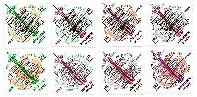Haiti 1963 Outer Space Stamp Sets, Overprints in Black & Red