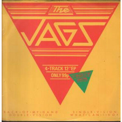 """JAGS Back Of My Hand 12"""" VINYL 4 Track Ep B/w Double Vision, Single Vision And"""