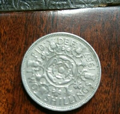 1967 Two Shilling Coin Elizabeth II