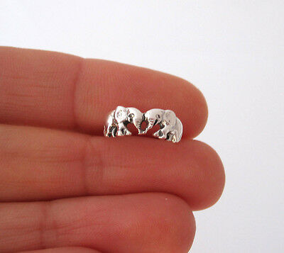 925 Sterling Silver TWO ELEPHANTS toe ring