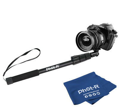 Phot-R Heavy Duty Extendable NonSlip Soft Handle Monopod Camera Microfibre Cloth