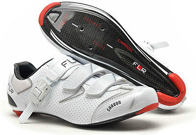 CYCLING SHOES FLR F-117 Road Carbon Shoe in Gloss White