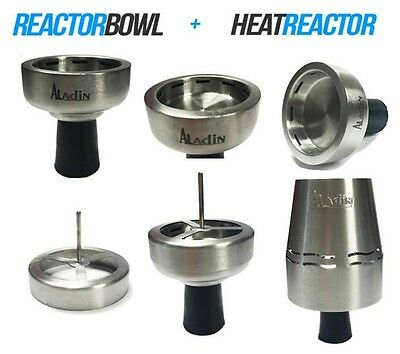 Aladin Heatreactor + Reactorbowl Shisha Wasserpfeife Kaminkopf - 3 in 1